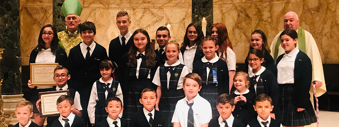 students at mission mass